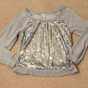 Silver sequin sweater